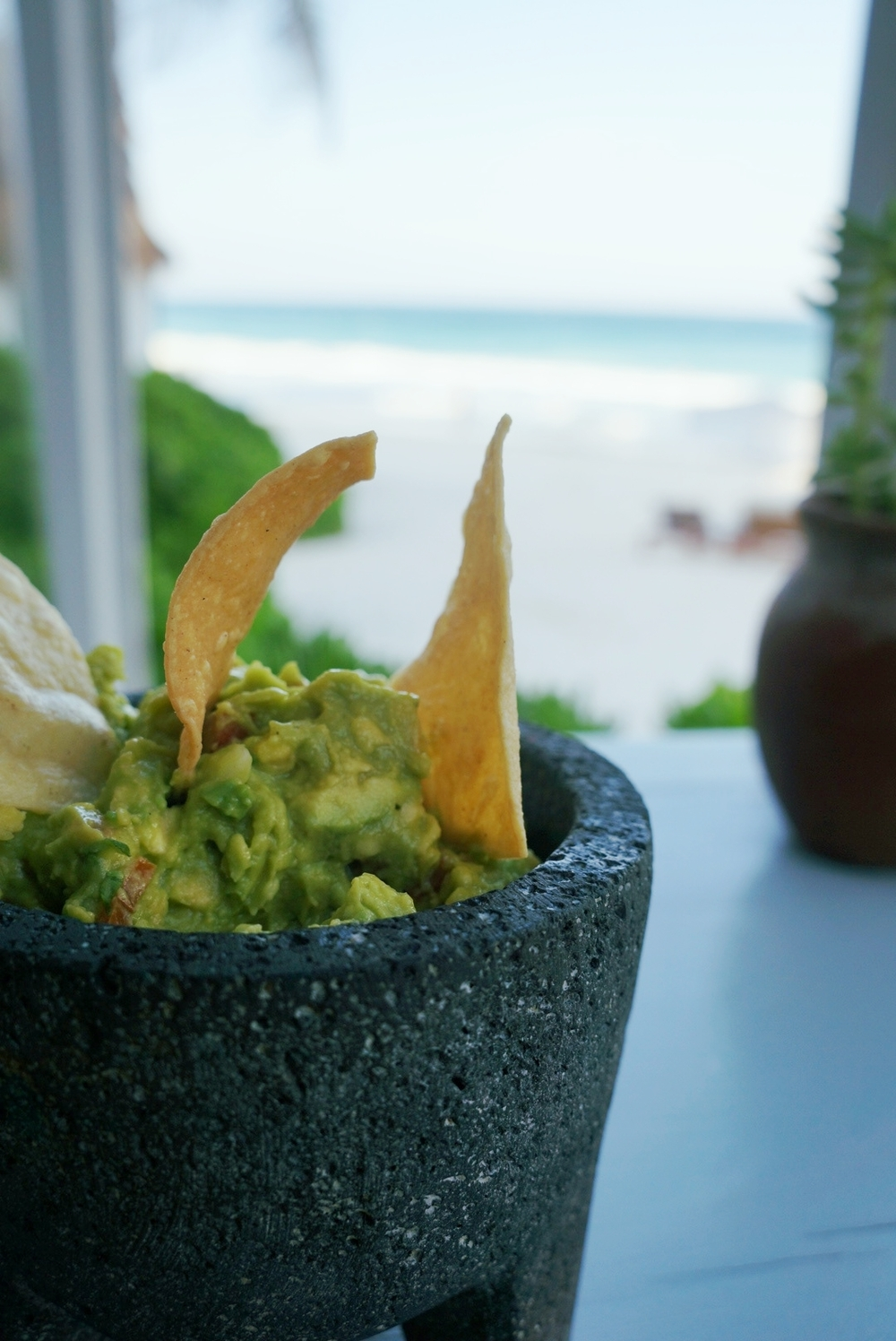 GUACAMOLE WE HAD IN TULUM