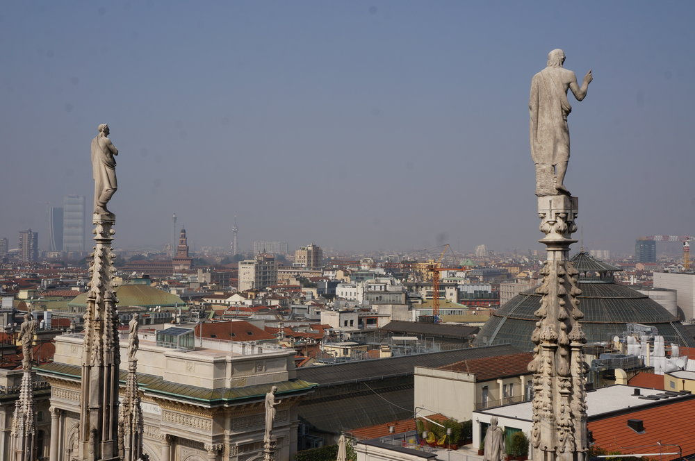 AS AN ADDED BONUS THE DUOMO ALSO OFFERS A GREAT VIEW OF THE CITY