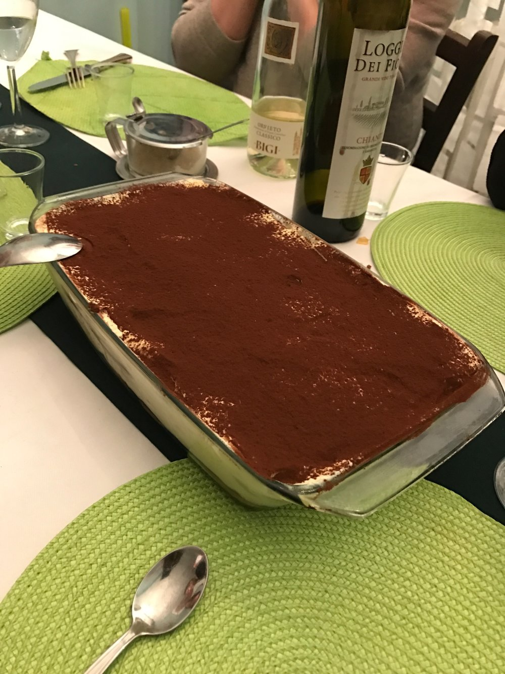 THE TIRAMISU MIGHT NOT HAVE LOOKED LIKE MUCH BUT IT WAS FANTASTIC