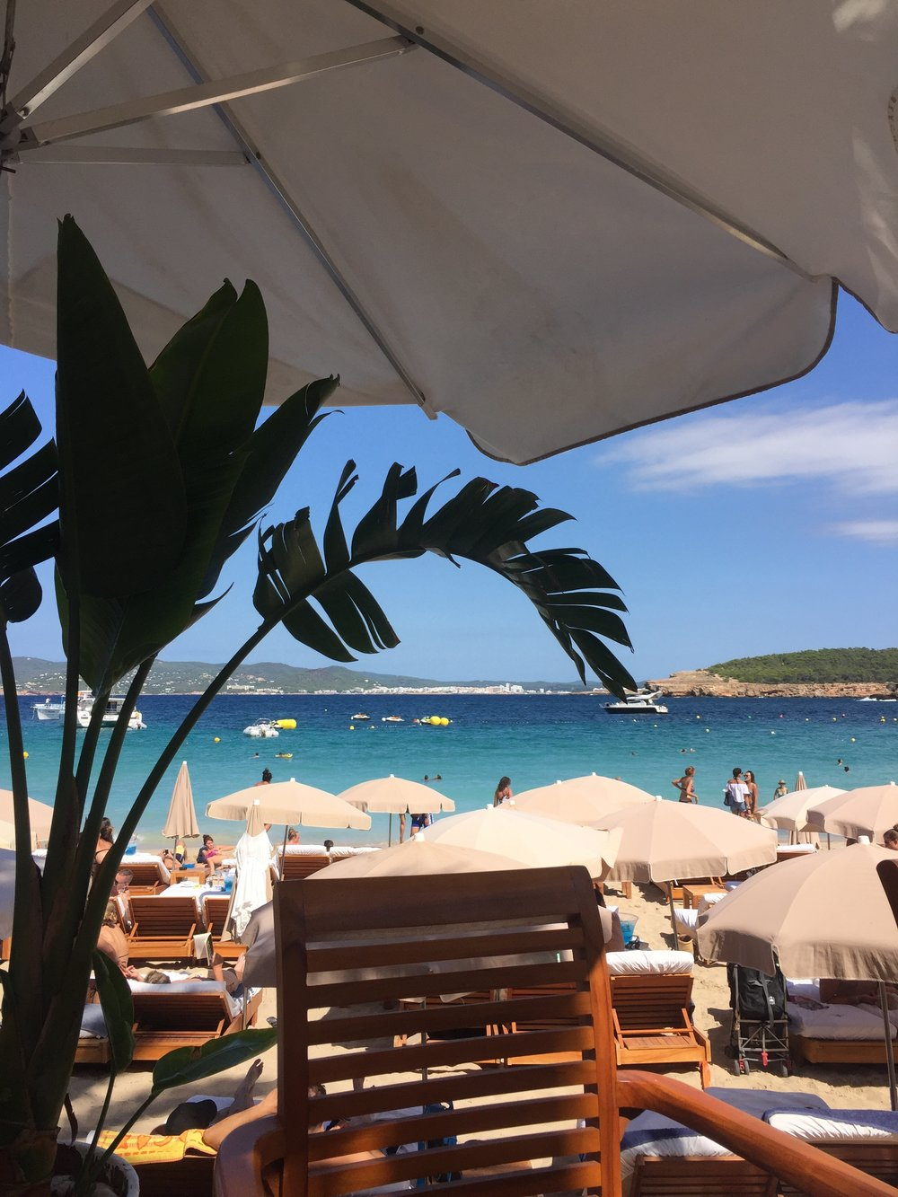 LUNCH VIEW AT CALA BASSA BEACH CLUB