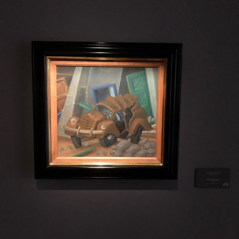 Carrabomba, a painting by Botero paying homage to the many victims of car bombings during the drug war.