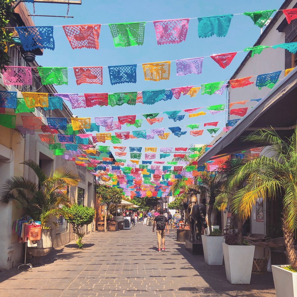 One of the many colorful streets of Tlaquepaque.
