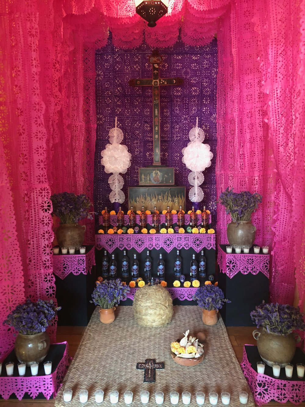 A tequila altar at Jose Cuervo.