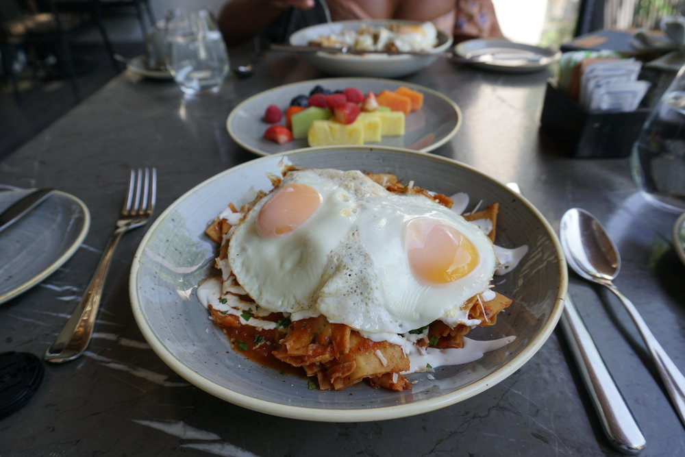 We are both big fans of chilaquiles.