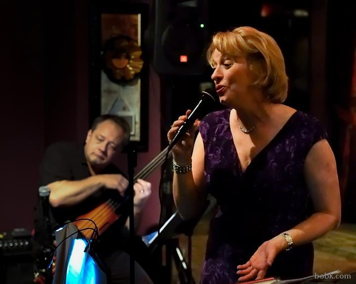 "Jeanne with trio at ""Aspire,"" Providence, RI"