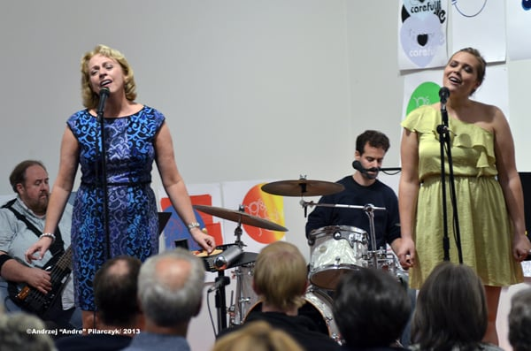 "Singing with The New Standard at the Tang Museum ""Upbeat on the Roof"" series in Saratoga Springs    Photo credit:  Andrzej Pilarczyk_"