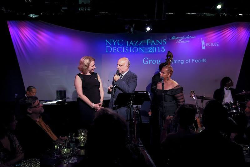 With Enzo Capua and Antoinette Montague at the 2015 Hot House Jazz / Metropolitan Room NYC Jazz Fans Decision ceremony