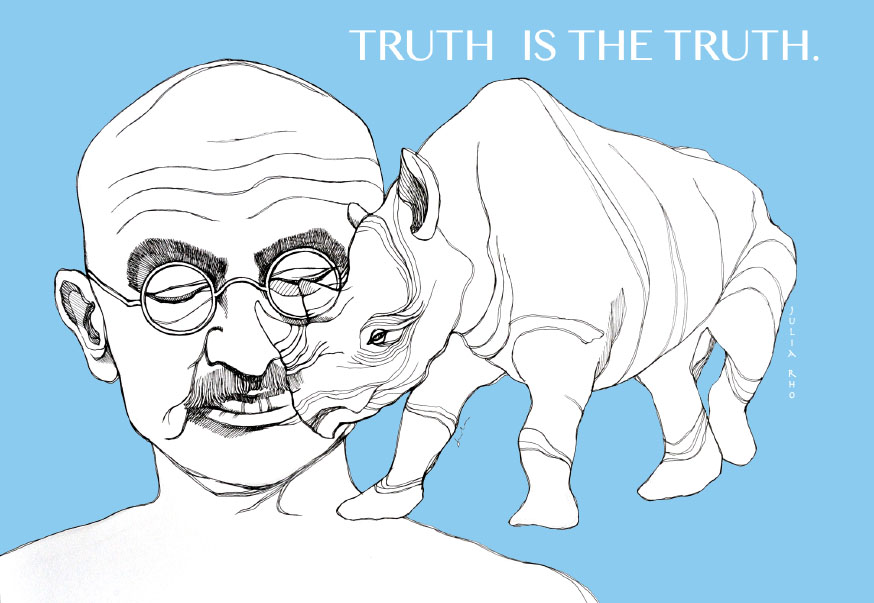 Mahatma Gandhi / pen