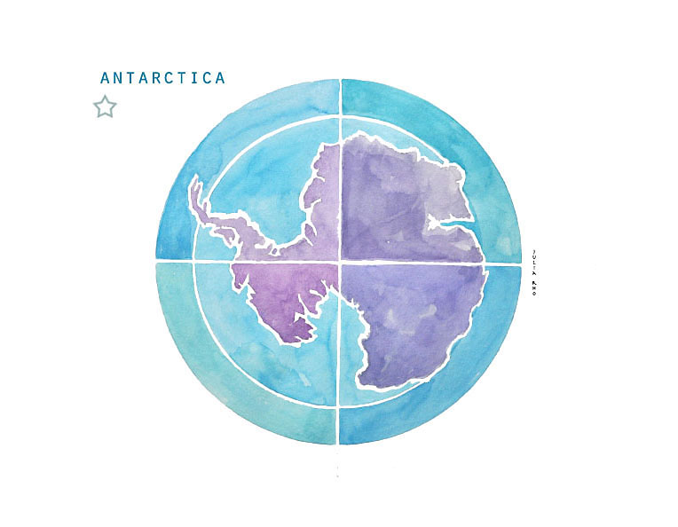 Antartica / watercolor