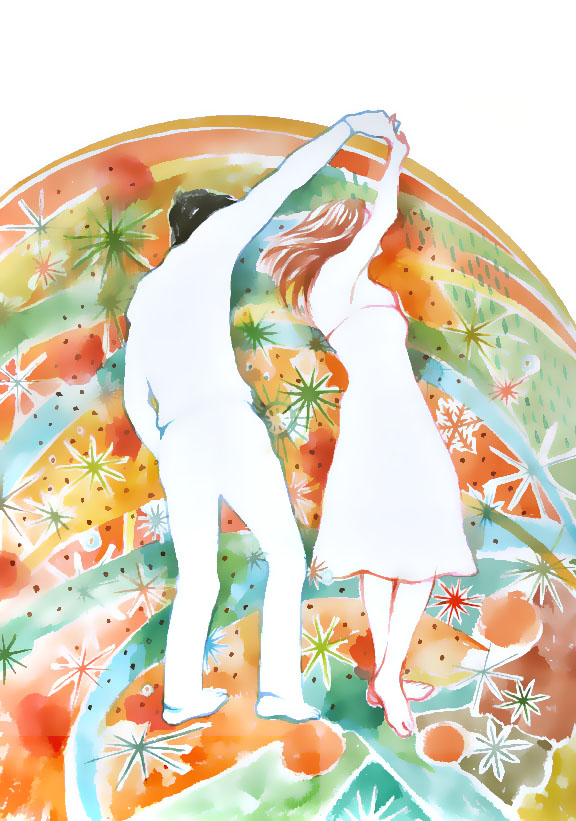Dance with me / watercolor with digital effect