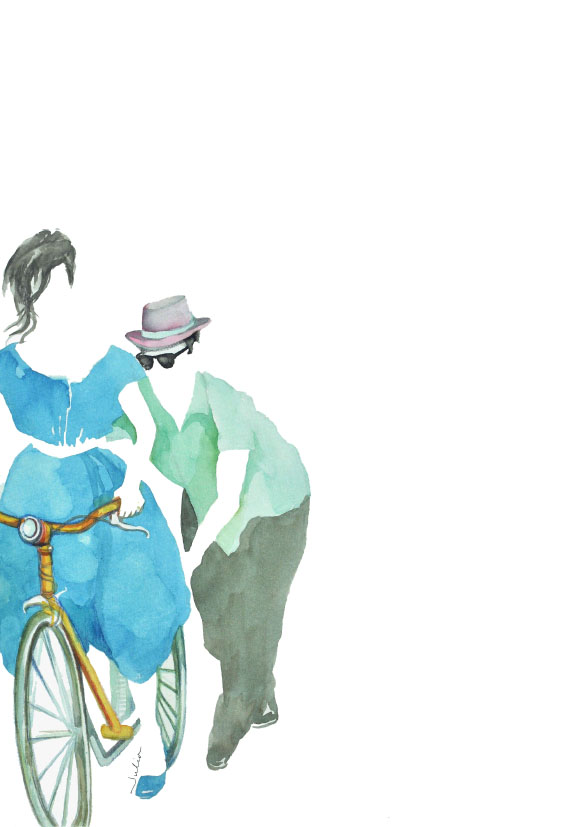 Bicycle Lovers / watercolor