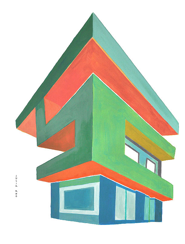 House with signal / acrylic