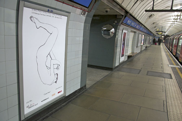 London Tube Exhibition with artbelow