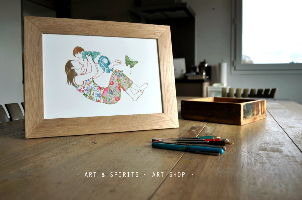 Enjoy watercolor drawings near you at home and office