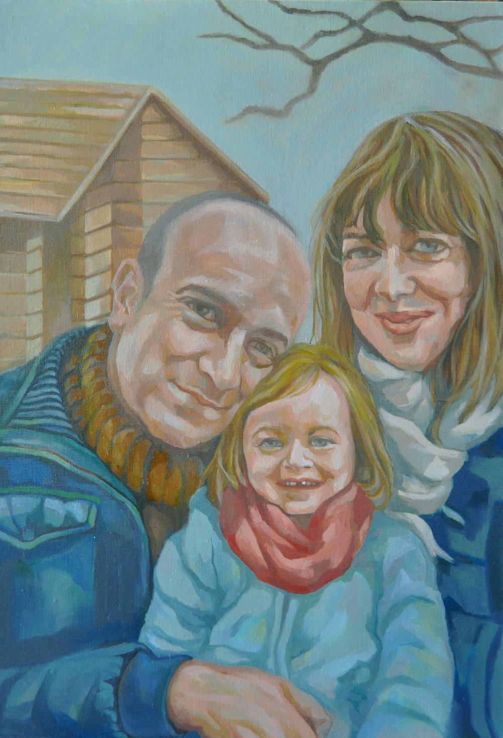 Jeanne's family in 2014
