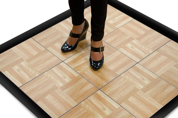 Nice floor!  But maybe don't tap in those wedges...