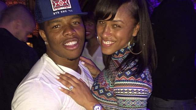 Ray Rice and his fiancee, Janay Palmer