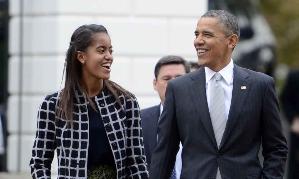Malia Obama & Dad