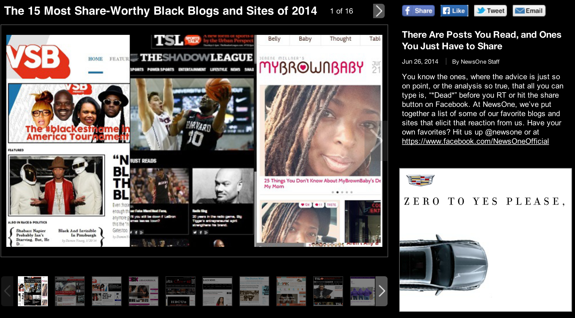 "NewsOne named A Belle in Brooklyn one of its ""most share-worth"" sites"