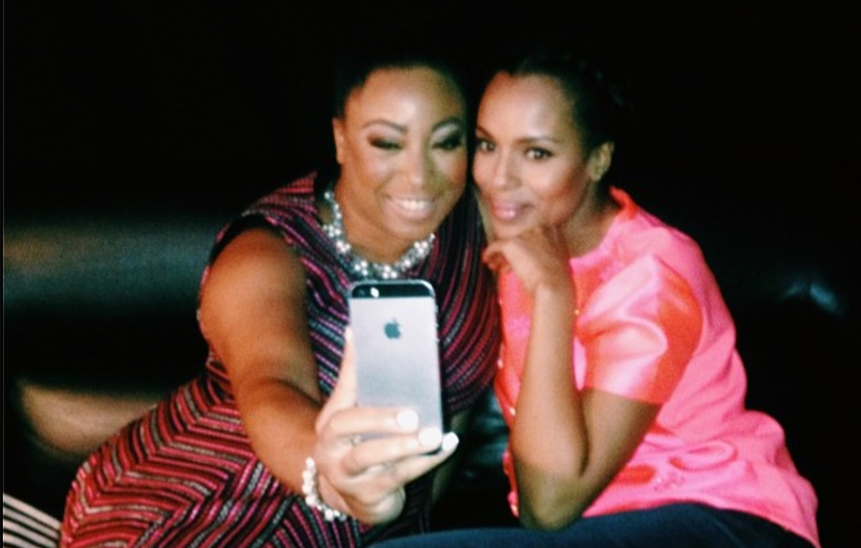 Got caught snapping at selfie with Kerry Washington backstage at BlogHer '14.