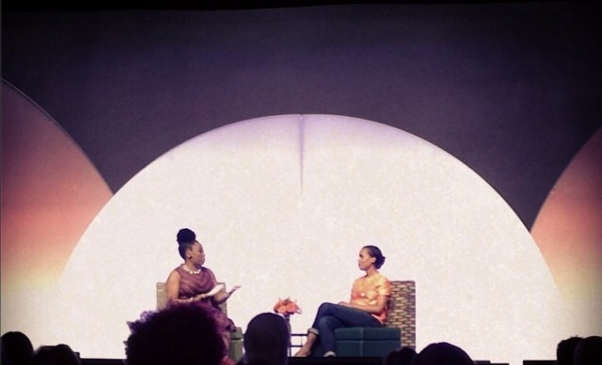 Me x Kerry Washington onstage for our interview at BlogHer '14