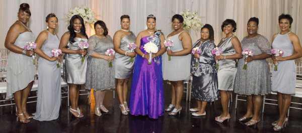 Yasmin Eleby and her bridal party. (Courtesy of Black Art in America.com)