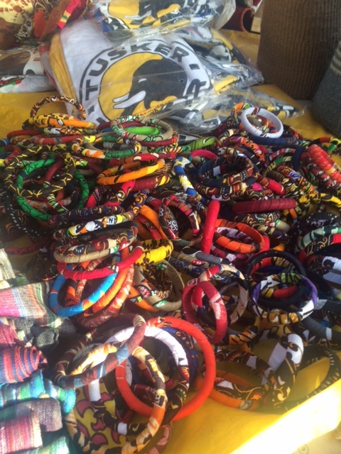 Bracelets from the market. Everyone wants some. I'm happy to share.