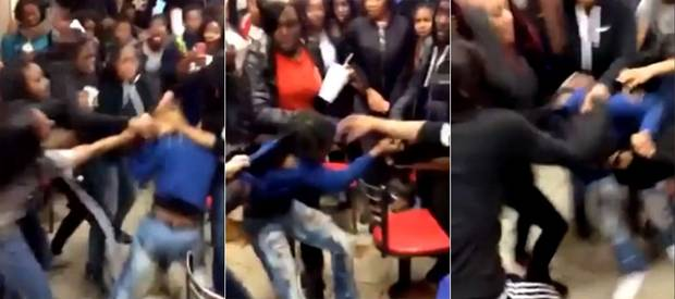 Screen shots of the recent brawl at a BK McDonald's