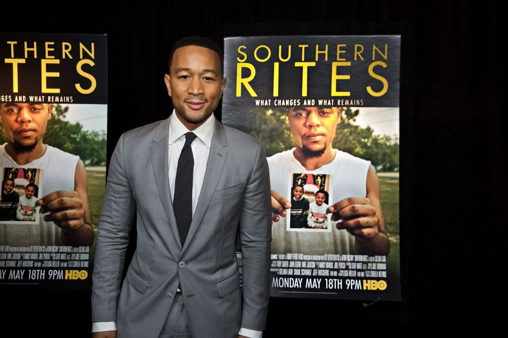 "John Legend at the NYC ""Southern Rites"" screening (photo by Jordan Kleinmann)"