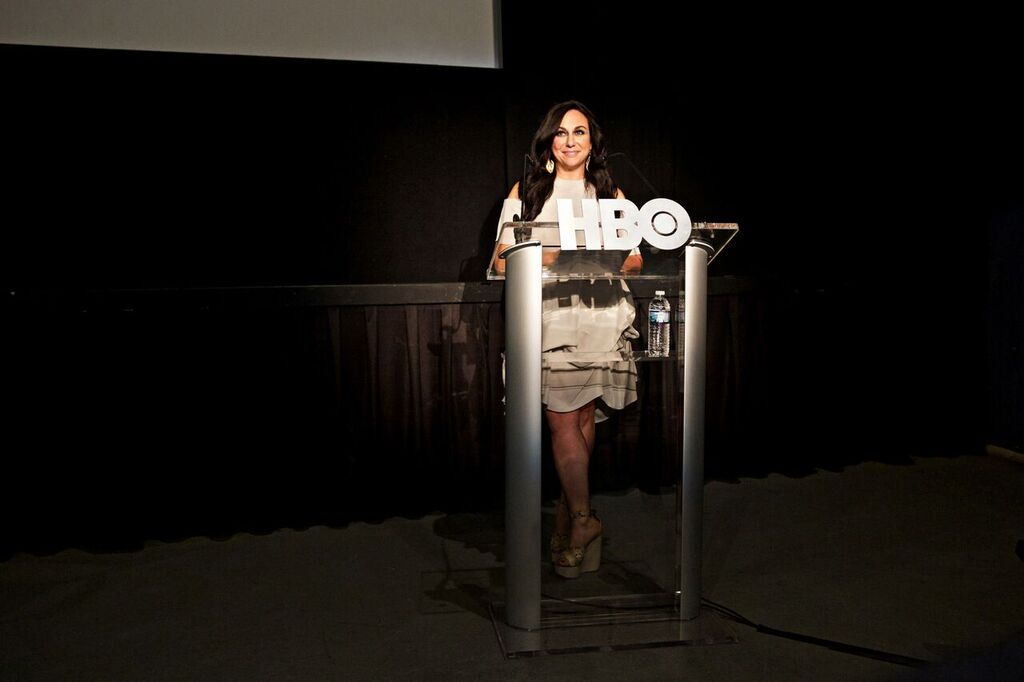 "Gillian Laub at HBO's screening for ""Southern Rites"". (Photo by Jordan Kleinmann)"