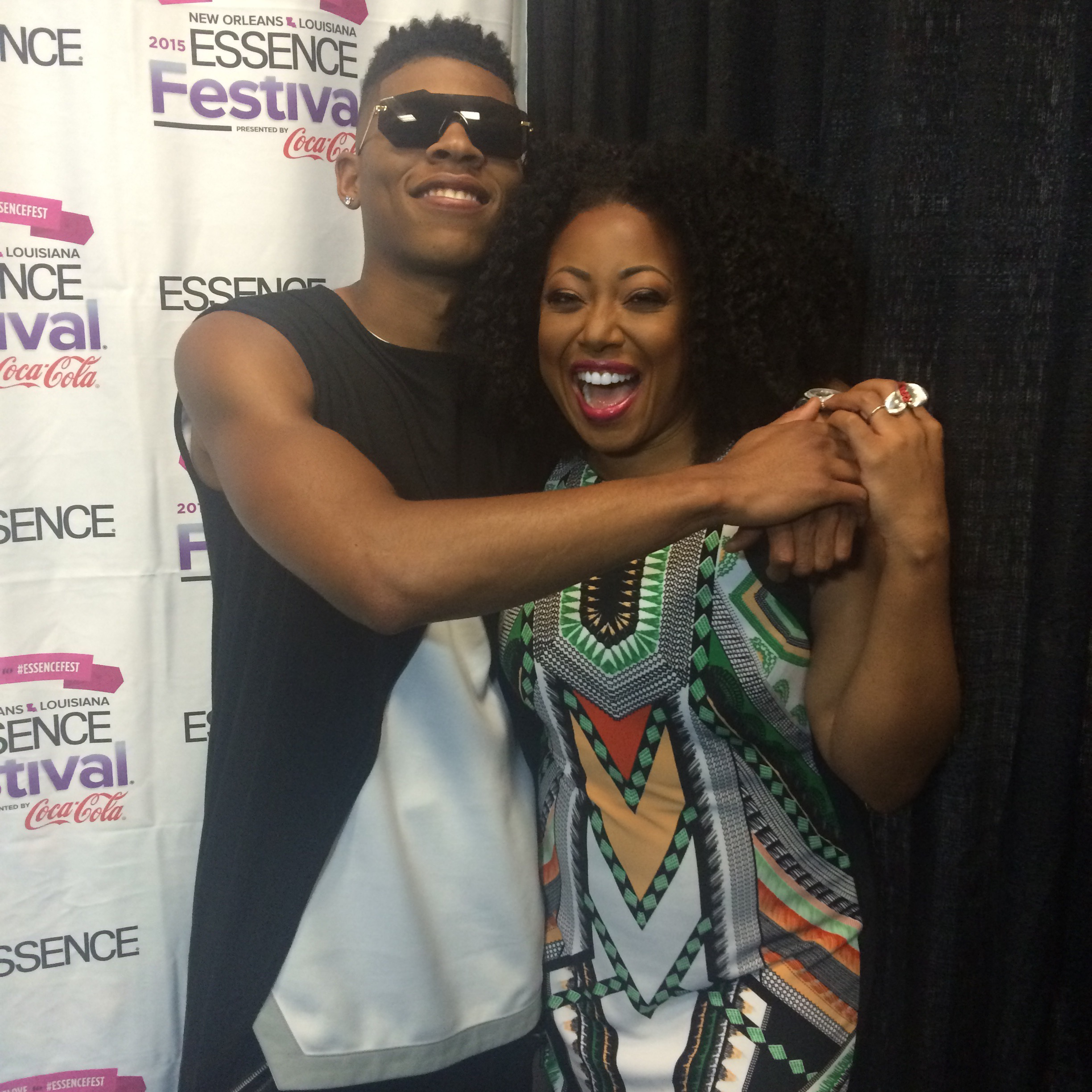 Me x Yaz in the press room at Essence Fest 2015