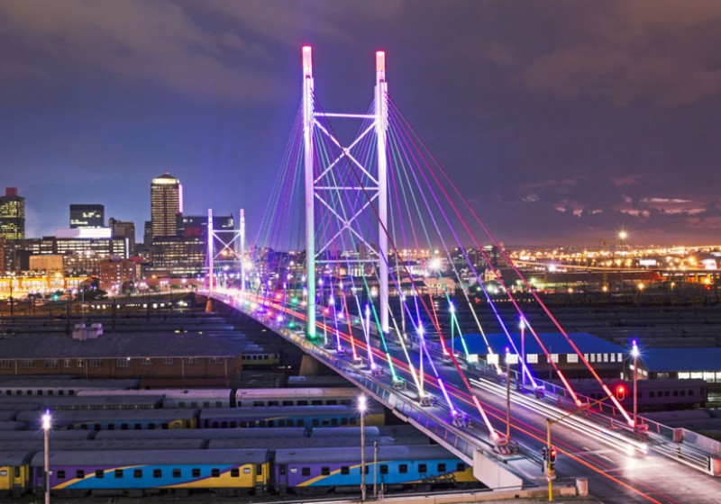 Johannesburg's Nelson Mandela bridge, Courtesy of Cyldeco.com
