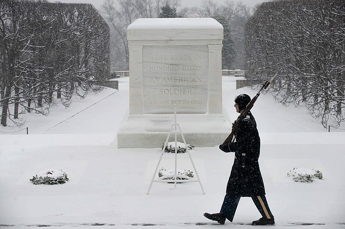 Tomb of the Unknown Solider, Arlington Cemetery. Image courtesy of KPBS