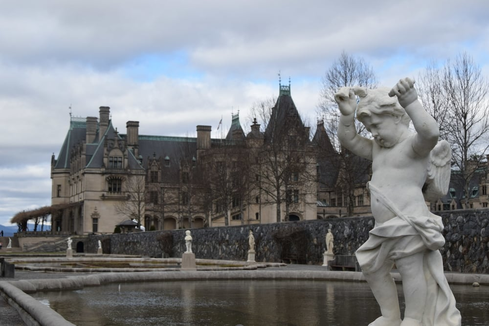 The Biltmore Estate, As Seen From The Italian Gardens.