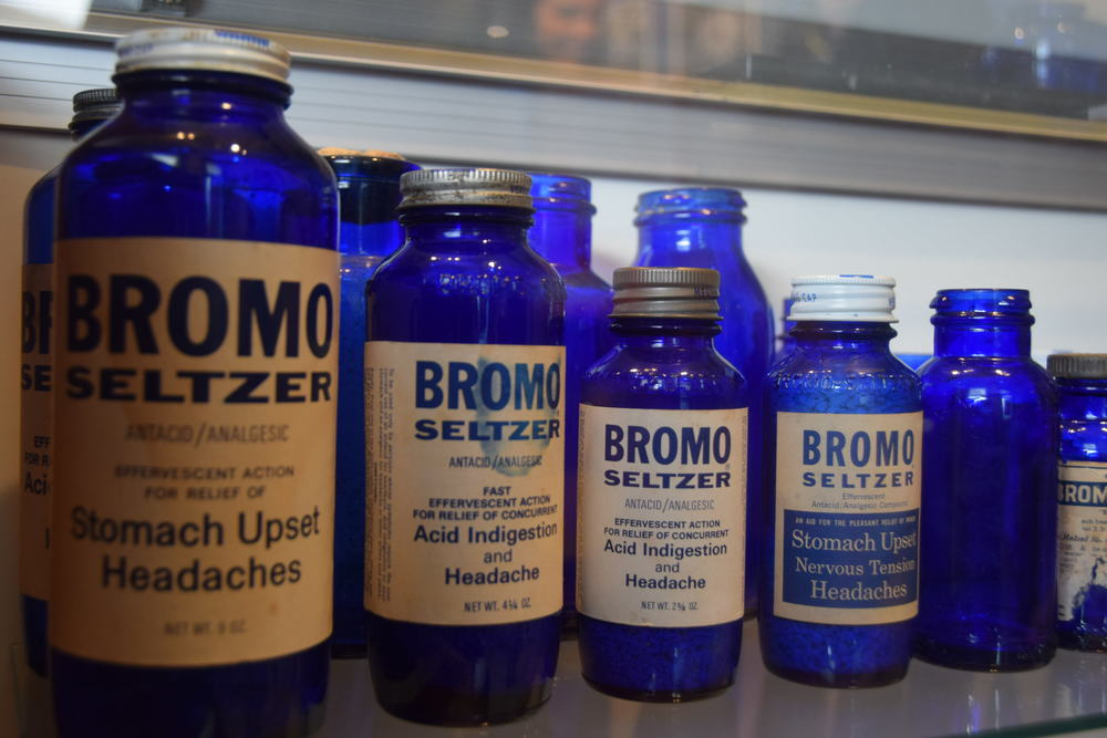 Bromo-Seltzer bottles, as seen on a tour of the Emerson Bromo Seltzer clock tower