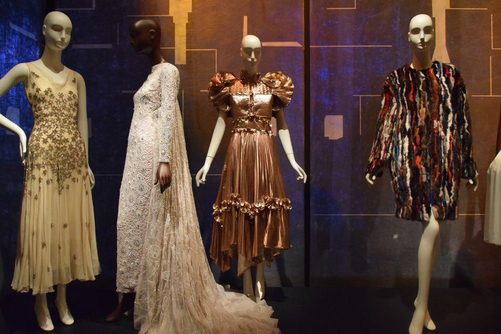 From L to R: Mary Liotta (1930); Bibhu Mohapatra (spring 2015), Zandra Rhodes (1981), unknown