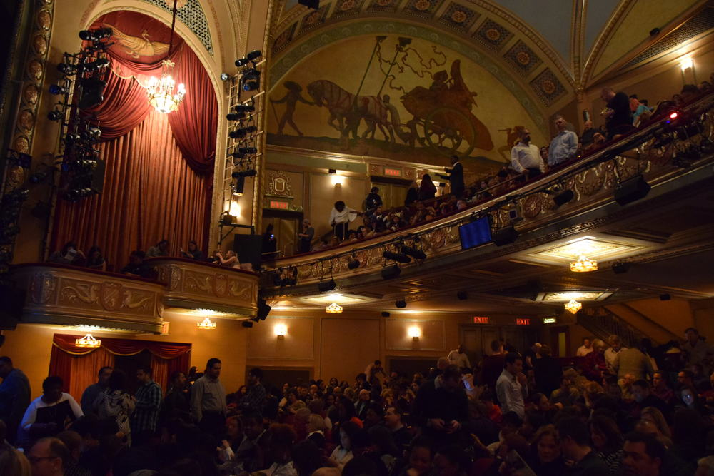 Inside the theatre.