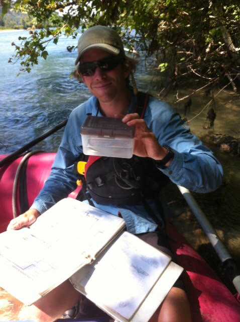 ID'ing fish for a river and stream survey.