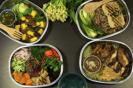 Green Tiffin  lunches in San Francisco for a recent zero waste brand education event.