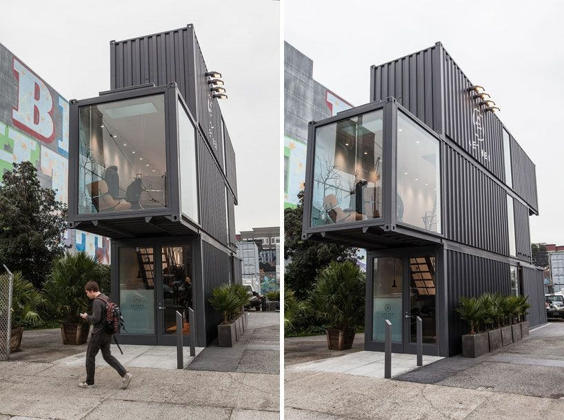 A container building in San Francisco
