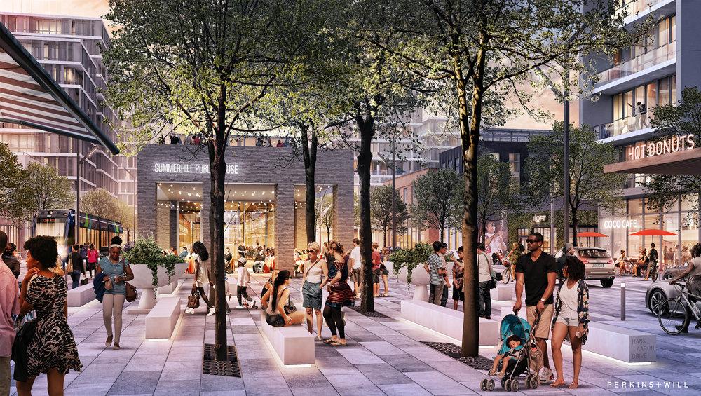 Hank Aaron Drive - Plaza Concept