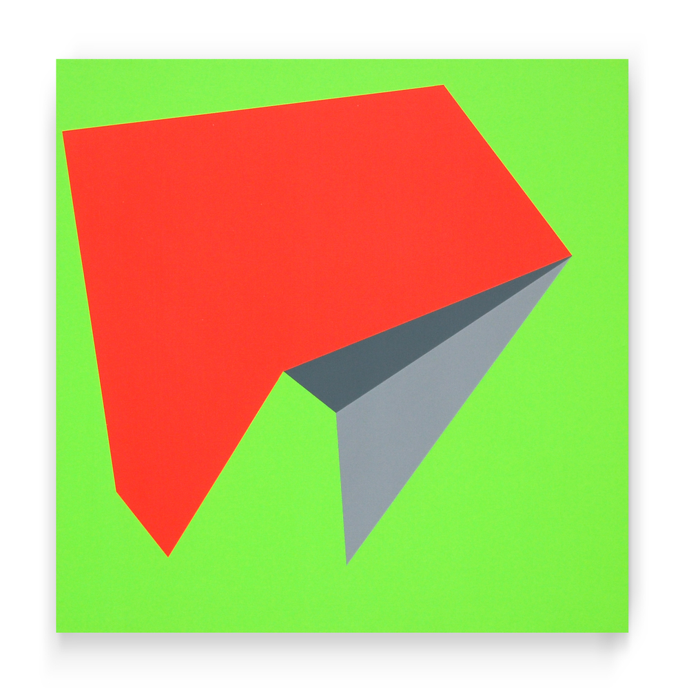 "Untitled C, 23""x23"", acrylic paint on panel, 2014"