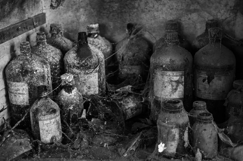 Discarded jars of chemicals sit in the abandoned Union Carbide factory in Bhopal India. The 1984 MIC gas leak at the Union Carbide factory in Bhopal killed over 8000 people, making it the biggest industrial disaster ever. Toxic material from the past factory operations and the defunct plant continues to contaminate soil and groundwater in the vicinity, impacting the health of many.