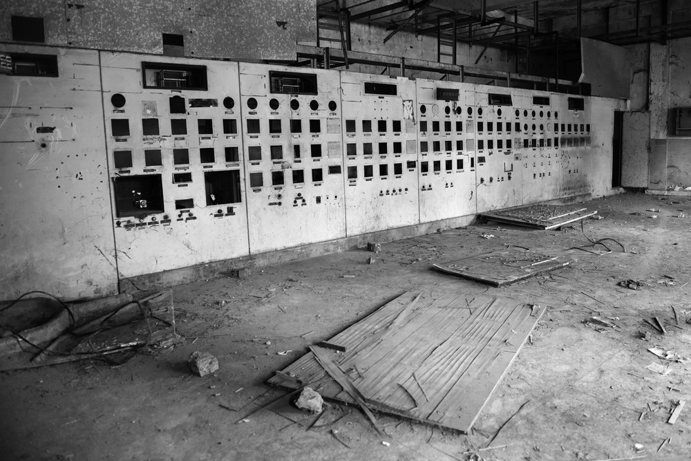 A defunct operation panel sits in the abandoned UCIL factory in Bhopal, India where 27-tons of MIC gas leaked on December 2, 1984, killing over 8000 people and exposing over half a million people to the toxic gas. The effects of one of the world's worst industrial disaster are visible not only in those exposed to MIC gas but also on the subsequent generations. Disabilities are caused both due to genetic mutations passed from gas victims to their children and through the ongoing severe groundwater contamination caused by the former operations and abandonment of UCIL factory.