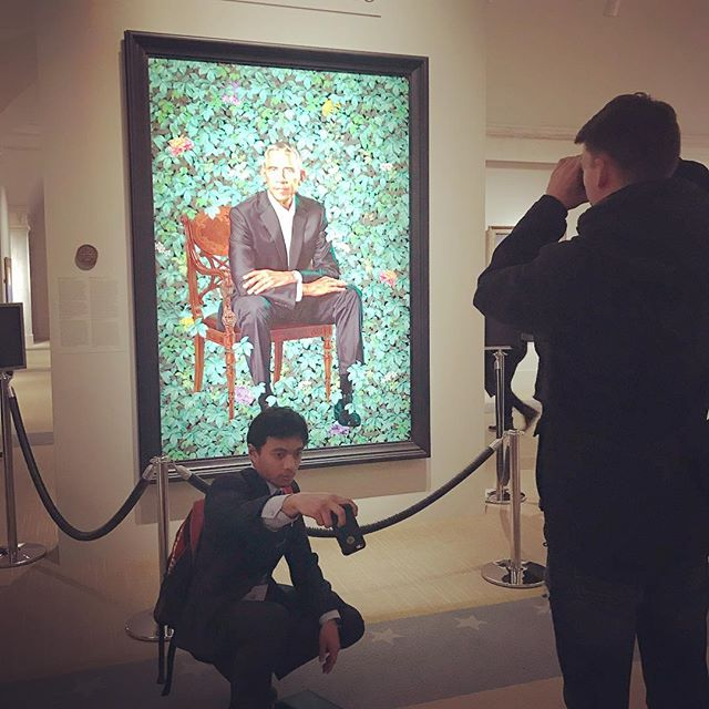 Selfie with Obama. Miss this guy?  #nationalportraitgallery #selfie #obamafan #obama