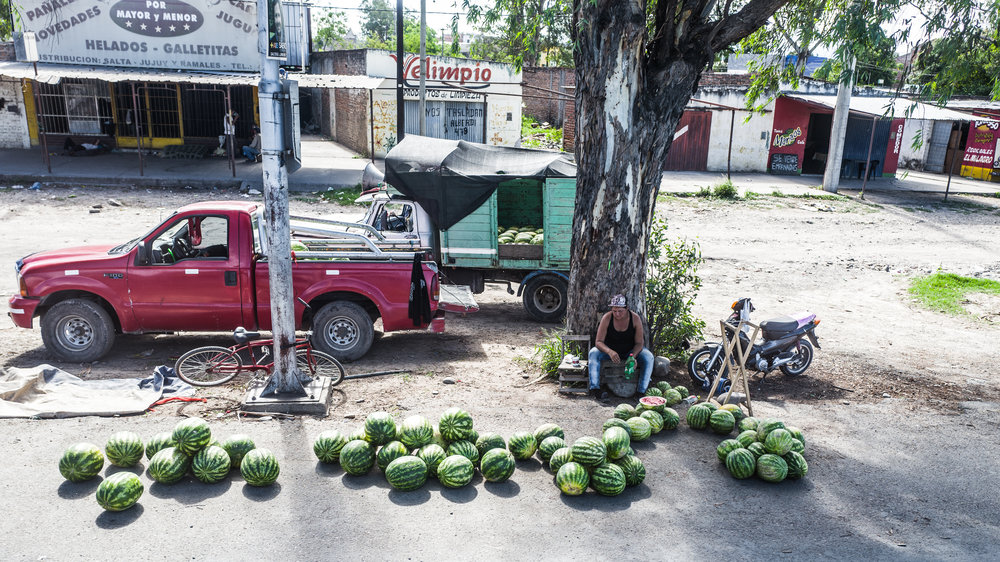 On the road: lots of watermelon!