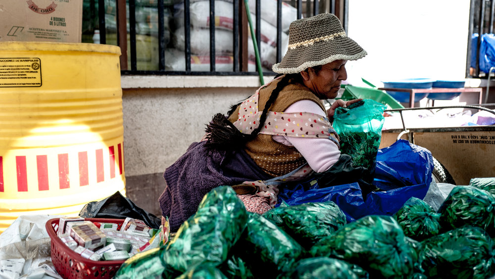 It's all good though, because there will always be coca leaves around! There may not be food, or clean water, but it doesn't matter; coca makes all your worries go away.