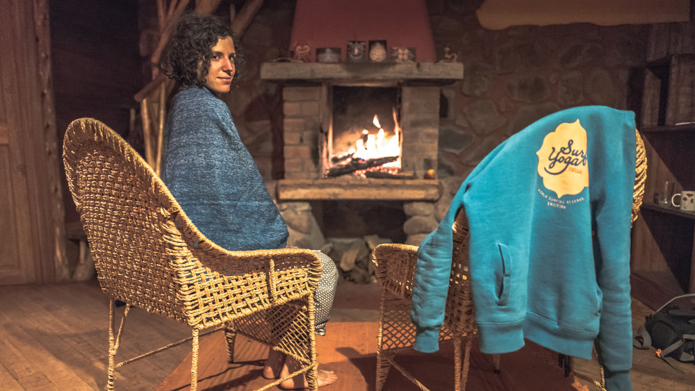 The nights were cold, so a nice fire place like this came in very handy. Something we lacked being in the highlands of Bolivia. (This is my face with a stomach flue, although it felt more like a bowel cleanse)