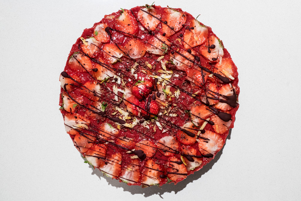 Raw Strawberry pie!