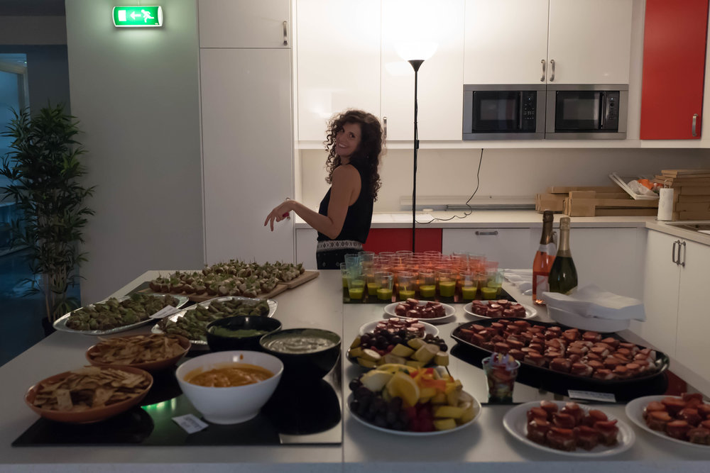 "Presenting so fashionably the food we made for an event called ""Connect"", in August 2016"